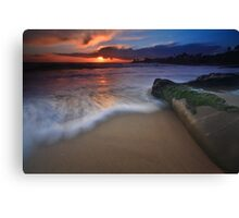 Sunset on laguna beach Canvas Print