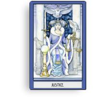 """""""Justice"""" Tarot Card Canvas Print"""
