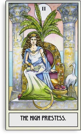The High Priestess - Card by WinonaCookie