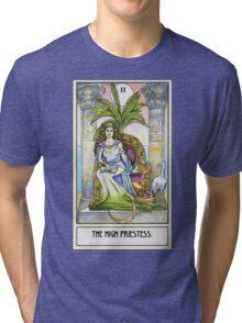The High Priestess - Card Tri-blend T-Shirt