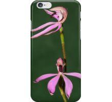 Black Tongue Caladenia. iPhone Case/Skin