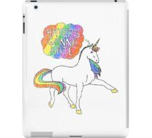 Haters gonna hate unicorn iPad Case/Skin
