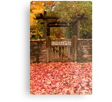 Autumn Gateway Metal Print