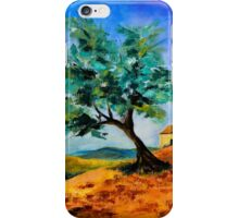 Olive Tree on the Hill iPhone Case/Skin