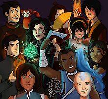 Team Avatar by hahahaida
