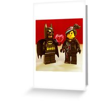Batman Loves Wyldstyle Greeting Card