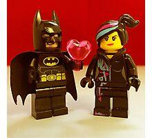 Batman Loves Wyldstyle Photographic Print