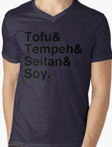 Tofu & Tempeh & Seitan & Soy. Mens V-Neck T-Shirt
