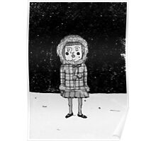 Little girl in snow Poster