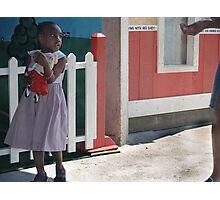 girl & doll Photographic Print