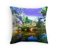 Reflections, Mt Crawford, South Australia Throw Pillow