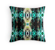 Psychedelic skyview Throw Pillow