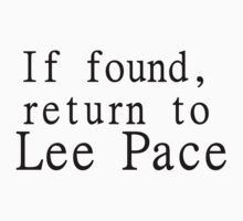 If found, return to Lee Pace by kryzanty