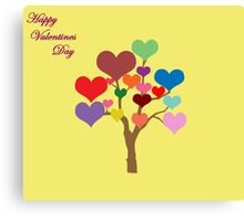 Tree of Hearts (Happy Valentines) Canvas Print