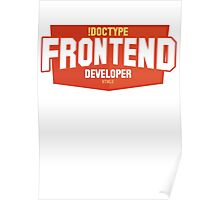 front end developer html5 Poster