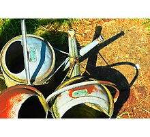 Three gallon watering cans Photographic Print