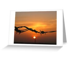 Sun through the wire Greeting Card