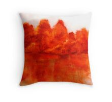 Red View  Throw Pillow