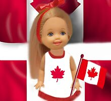 °♥ ˚ • ★PATRIOTIC DOLL WAVING HER FLAG FOR CANADA TRUE PATRIOT LOVE °♥ ˚ • ★ by ✿✿ Bonita ✿✿ ђєℓℓσ