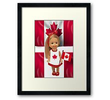 °♥ ˚ • ★PATRIOTIC DOLL WAVING HER FLAG FOR CANADA TRUE PATRIOT LOVE °♥ ˚ • ★ Framed Print