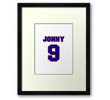 Basketball player Jonny Flynn jersey 9 Framed Print