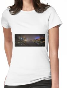 Melbourne in Fog Womens Fitted T-Shirt