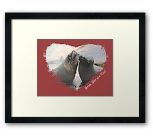 Give Us A Kiss (Seal Valentine)  Framed Print