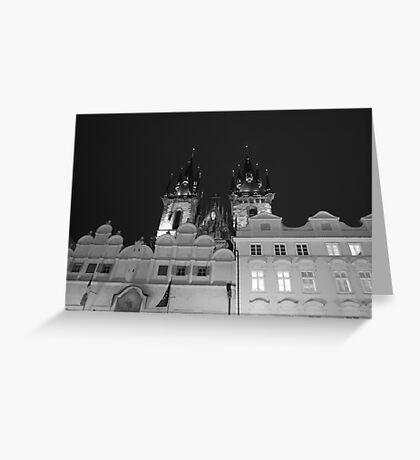 Prague by night Greeting Card