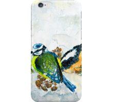 Birds In Snow In Germany iPhone Case/Skin