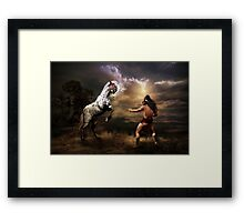 Difference of Opinion Framed Print