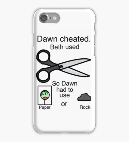 Dawn Cheated - Rock, Paper, Scissors  iPhone Case/Skin