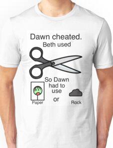 Dawn Cheated - Rock, Paper, Scissors  Unisex T-Shirt