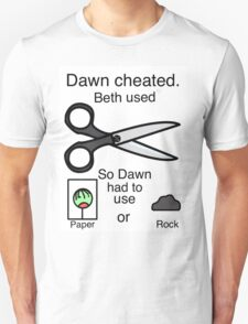 Dawn Cheated - Rock, Paper, Scissors  T-Shirt