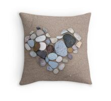 cold stone heart Throw Pillow