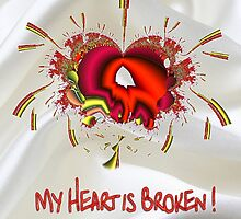 A Broken Heart greeting card by Dennis Melling