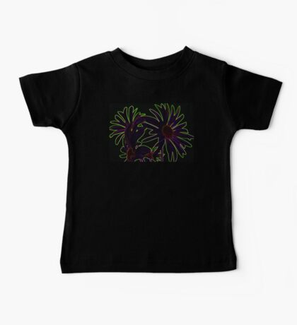 Even A Flower Can Be Neon Purple and Green Baby Tee