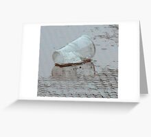 reflected glass Greeting Card