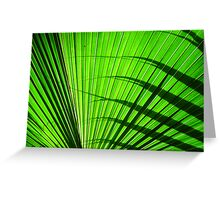 green fan Greeting Card