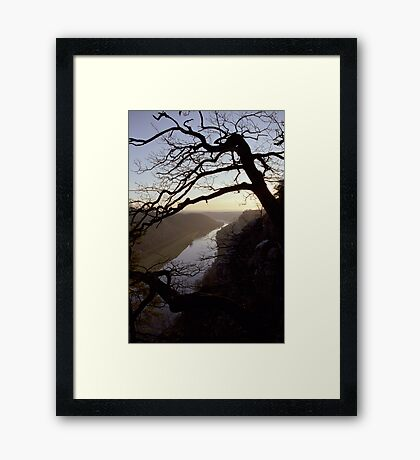 River Elbe, view from Bastei, Germany Framed Print