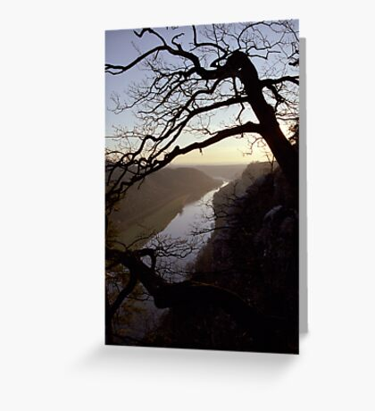 River Elbe, view from Bastei, Germany Greeting Card