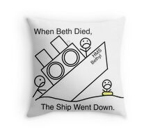 When Beth Died... Throw Pillow