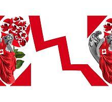 ☀ ツANGEL WATCHING OVER US WITH CANADIAN FLAG.& DESIGNED CANDIAN ROSE. (TRIBUTE TO CANADA) MUG ☀ ツ by ✿✿ Bonita ✿✿ ђєℓℓσ