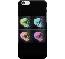 Van Gogh Skull with burning cigarette remixed set of 4 iPhone Case/Skin