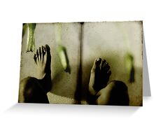 ghosts in the shower Greeting Card