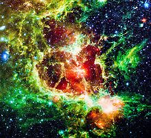Heart Nebula Digital Drawing by Eti Reid