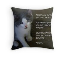 Pet Adoption Throw Pillow