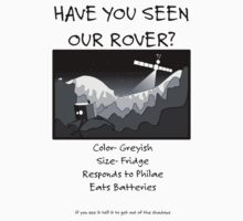 Missing Rover - black on white Kids Clothes