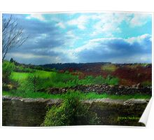 Farmer's Fence at Westley Poster