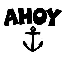 Ahoy Anchor Sailing Design Photographic Print