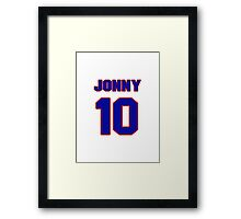 Basketball player Jonny Flynn jersey 10 Framed Print